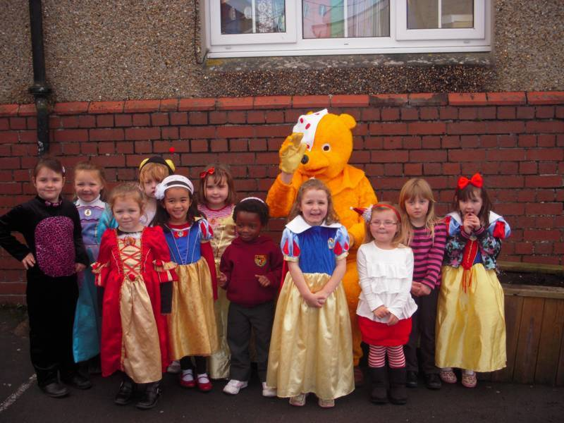 Girls Reception With Pudsey